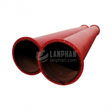 rubber coated steel rubber lined pipe